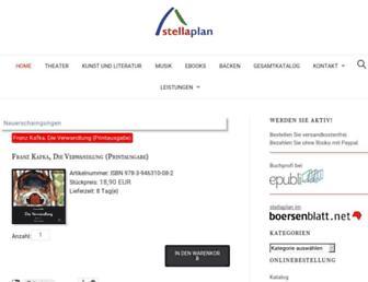 Main page screenshot of stellaplan.de