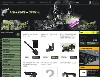 airsoftguns.ie screenshot