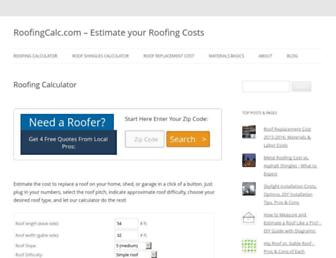 roofingcalc.com screenshot