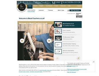 musicteachers.co.uk screenshot