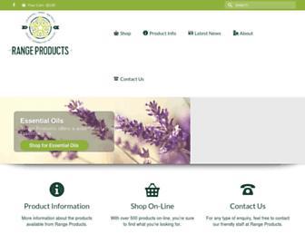 rangeproducts.com.au screenshot