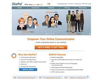 sitepal.com screenshot
