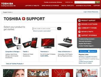 support.toshiba.com screenshot