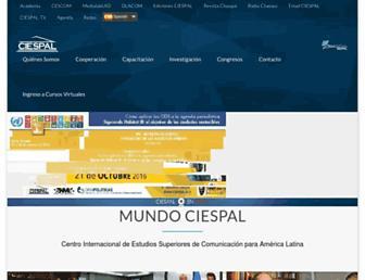 Main page screenshot of ciespal.net