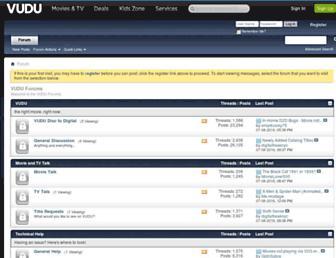 forum.vudu.com screenshot