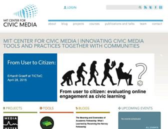 Main page screenshot of civic.mit.edu