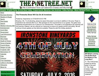 Main page screenshot of thepinetree.net