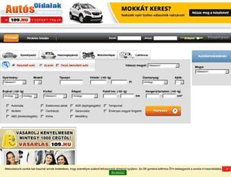 Main page screenshot of autosoldalak.hu