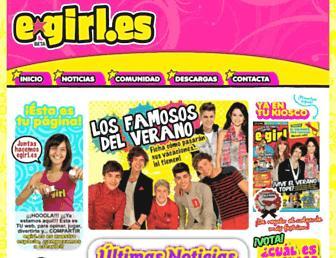 Main page screenshot of egirl.es