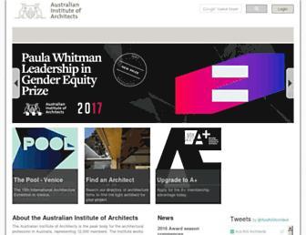 architecture.com.au screenshot