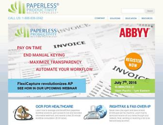 paperlessproductivity.com screenshot