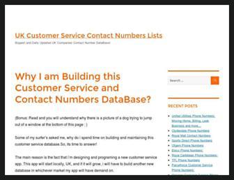 customerservicecontactnumber.uk screenshot