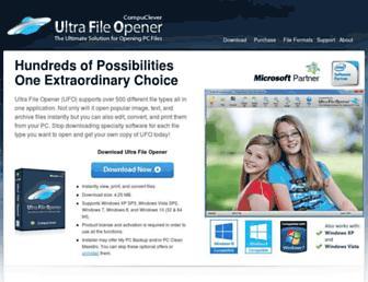 ultrafileopener.com screenshot