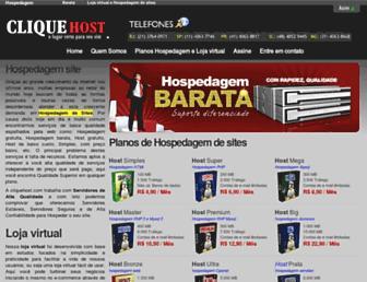 cliquehost.com screenshot