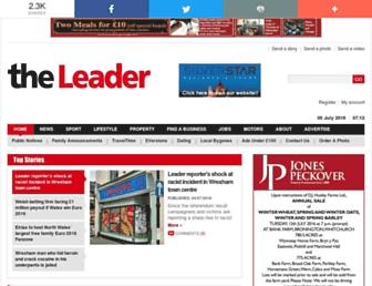 Main page screenshot of leaderlive.co.uk