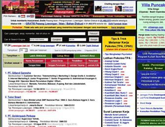 lowongan.diklat.web.id screenshot