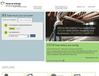 focusonenergy.com screenshot