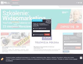Main page screenshot of proto.pl
