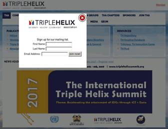 triplehelixassociation.org screenshot