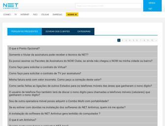 faq.netcombo.com.br screenshot