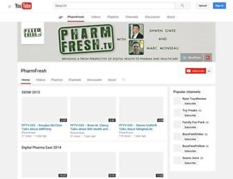 Main page screenshot of pharmfresh.tv