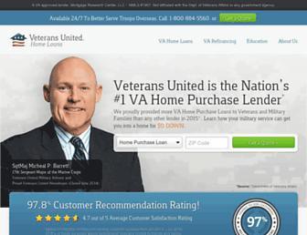 veteransunited.com screenshot