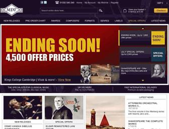 Main page screenshot of mdt.co.uk