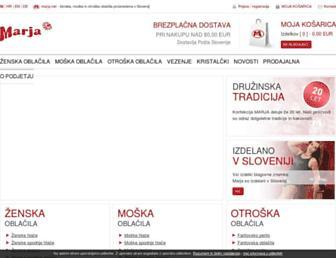 Main page screenshot of marja.net