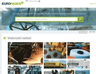 Main page screenshot of europages.it