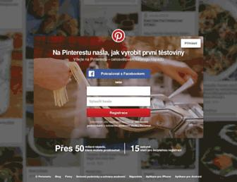 cz.pinterest.com screenshot