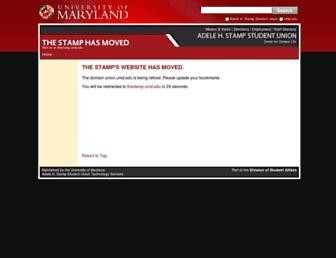 Main page screenshot of union.umd.edu