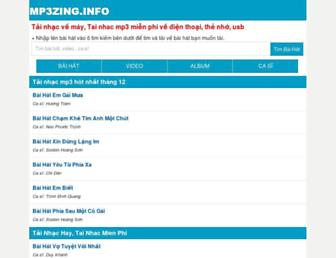 mp3zing.info screenshot