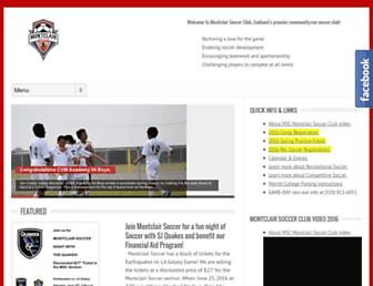 montclairsoccerclub.org screenshot
