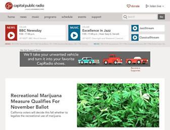 Main page screenshot of capradio.org