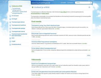 Main page screenshot of tuumaenergia.ee