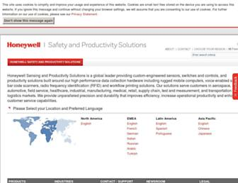 aidc.honeywell.com screenshot