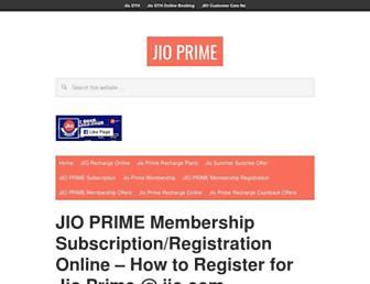 jioprime.org screenshot