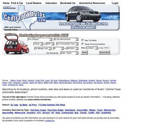 centraltxautos.com screenshot