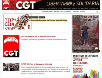 cgt.org.es screenshot