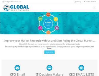 globalb2bcontacts.com screenshot