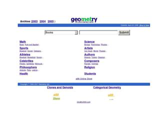 Main page screenshot of www0.geometry.net