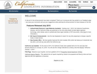 leginfo.legislature.ca.gov screenshot