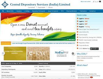 cdslindia.com screenshot