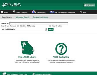 Main page screenshot of gapines.org