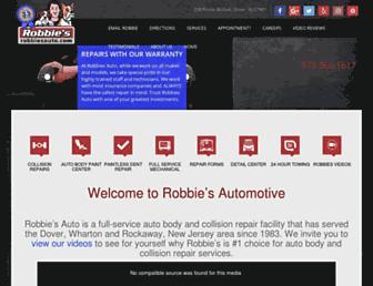 robbiesauto.com screenshot