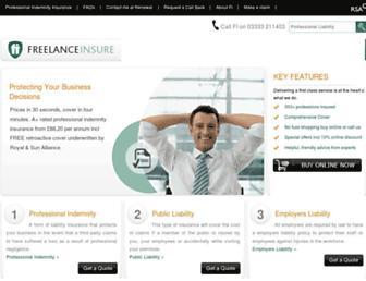 freelanceinsure.co.uk screenshot