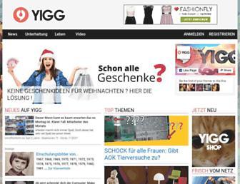 Main page screenshot of yigg.de