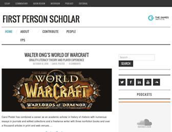 firstpersonscholar.com screenshot