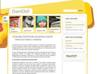 Main page screenshot of daniotil.ro