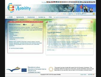 Main page screenshot of european-mobility.eu